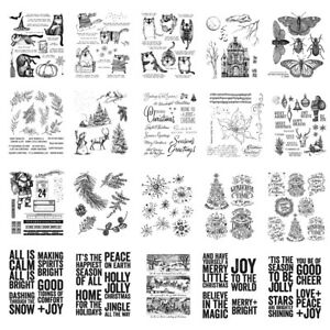 Christmas Phrase Animal Silicone Clear Stamps Scrapbooking Crafts Decor Cards