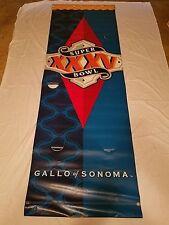 Rare NFL Super Bowl XXXV Gallo Of Sonoma Banner Tampa FL
