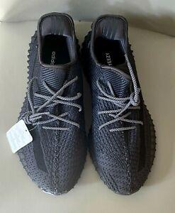 Adidas Yeezy Boost 350 V2 EF2397 UK 11 BNWT Black Non reflective