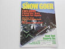 Snow Goer snowmobile magazine 1975 Polaris TX 340, Massey, JD Liquifire 440, TNT