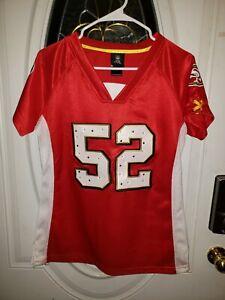EUC NFL SAN FRANCISCO 49ERS JERSEY Patrick WILLIS 52 Womens Rivets Laces No Size