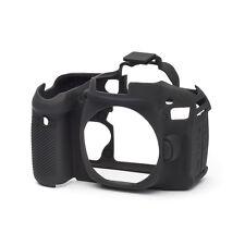 EasyCover Pro Piel de silicona caso de armadura de cámara para adaptarse a Canon EOS 80D DSLR Negra