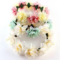 Boho Ladies Flower Festival Wedding Garland Forehead Hair Headband Head Band New