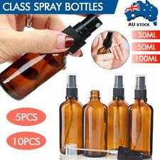 Amber Glass Essential Oil Spray Roller Bottles Mist Sprayer Containers 30-100ml