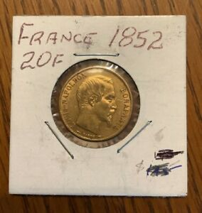 1852 gold Louis-Napoleon 20 French franc