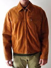 giacca uomo vera pelle scamosciato, taglia 50