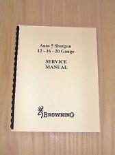 Browning  Automatic 5  Field Service Manual - Gunsmith - Repair - #B21