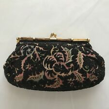 Vintage Beaded Bags by Josef Hand Beaded in France Petit Point Black