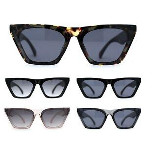 Damen Mod Flach Top Cat Eye Retro Mode Sonnenbrille