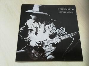PETER MAFFAY - CD - BOOKLETT - ICH WILL LEBEN & ORIG. AUTOGRAMM