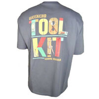 TOMMY BAHAMA Men's T-Shirt Grilling BBQ Tee SIZE SMALL WEEKEND TOOL KIT Gray NEW