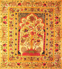 ORANGE RED cotton TREE OF LIFE SOFA KING DOUBLE BED SOFA COVER BEDSPREAD THROW