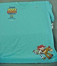 2017 DISNEYLAND Pixar Half Marathon Light Blue T-Shirt Adult Ladies X-Large NEW
