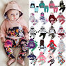 Cute Kids Toddler Baby Boys Girls Floral Camo Hooded Hoodie Outfits Set Clothes