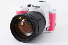 PENTAX K-r 12.4MP 28-200mm Lens Pink/White [Exc+++] w/8GB SD Card,Strap [272]