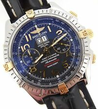 Breitling Crosswind Special Automatic Chronograph Big-Date 18kt Gold SS B44356