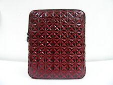 "Red Black Geometric Rhombus 8""x10"" Tablet Case Sleeve PU Zip Pouch"