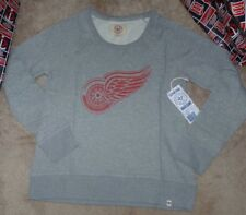 NEW NHL Detroit Red Wings Crew Glimmer  Sweatshirt Women Ladies L Large NEW NWT