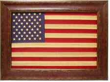 NEW!! Antique Flag with Custom Frame 30.25 x 42.25. America Flag as shown.