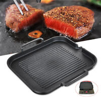 Non-Stick Grill Griddle Barbecue Cooking Kitchen BBQ Frying Plate Steak