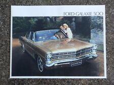 FORD GALAXIE 1967 ''RARE''  RHD FORD AUST SALES BROCHURE. 100% GUARANTEE