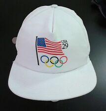 236794970a5 Vintage USPS 29 Cent Stamp 1992 Olympics Leather Strapback Hat Postal  Service
