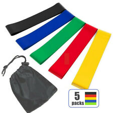 Yoga Resistance Bands Loop Set CrossFit Fitness Workout Booty Leg Exercise Band