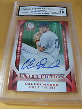 CAL DRUMMOND TIGERS 2013 ELITE EXTRA EDITION AUTO ROOKIE RC # 422/670 GRADED 10
