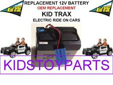 NEW! KID TRAX DODGE POLICE CAR OEM REPLACEMENT 12 VOLT RECHARGEABLE BATTERY