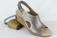 New Clarks Women's Lafley Rosen Wedge Sandals Size 7.5m or 8m Pewter Metallic