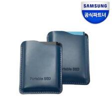 Samsung T5 portable SSD Genuine Leather case Premium pouch (1Pcs)