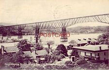 1908 Poughkeepsie Bridge, Albany & New York Day Line Boats Passing Each Other