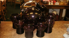 Cambridge Amethyst Ball Pitcher and Six 12 ou. Tumblers