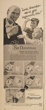 1952 Disney Mickey Mouse~Cinderella~Snow White~Hopalong Cassidy Watch Vintage Ad