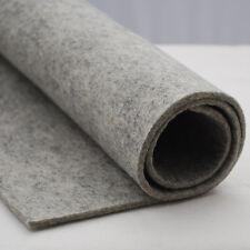 100% Wool Felt Fabric - 3mm Thick - Light Grey European Felt - 1 Yard x 0.5 Yard