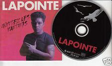 ERIC LAPOINTE Invitez Les Vautours (CD 1996) Quebec Rock Album 11 Songs