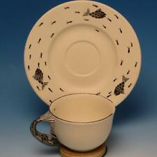 Emilia Castillo - Mexican Pottery - Cup and Saucer - Fish Handle, Decoration