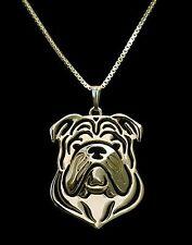 British Bulldog Pendant Necklace -  Fashion Jewellery -Gold Plated