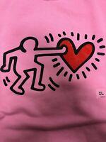 "KEITH HARING x UNIQLO 'NYC' MoMA SPRZ NY Sweatshirt US Women Size XL ""NWT"""