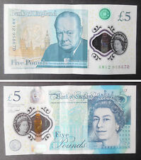 AM12 958670 Bank of England new polymer £5.00 note / banknote Winston Churchill