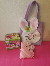 Paas Color Cups, A Purple Felt Bag W/Bunny On Front And A Pink Zipit Bunny Pouch