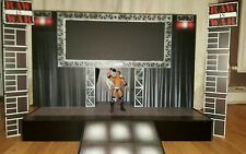 Custom WWE/WWF Attitude Raw is War entrance stage for figures (smaller scale)