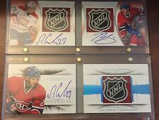 13-14 National Treasures Galchenyuk Gallagher 1/1 Dual Rookie Shield Patch Auto