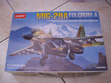 ACADEMY MIG 29A FULCRUM A FORMER SOVIET JET FIGHTER  PLASTIC MODEL 1/48