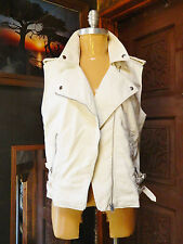 H&M Leather Vest Eggshell White Ivory Size US 12 EUR 42