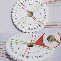 2pcs Round Kumihimo Beading Cord Disc Disk Braiding Plate DIY Braided Sale