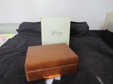 NOS Melannco International Co. Walnut Color Cigar Humidor Storage Box