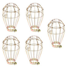 5x Reptile Amphibians Heat Lamp Light Bulb Cover Cage Protector Guard Gold