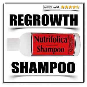 NUTRIFOLICA GROWTH SHAMPOO restore hair line grow loss regrowth no side effects