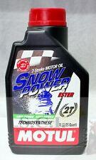 MOTUL ESTER SYNTECTIC 2T Motul Snow Power 2-Stroke Snowmobile Oil 1Liter QUART